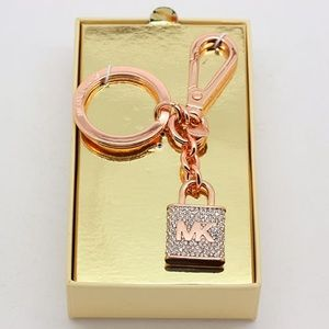 Michael Kors keychain rose gold color